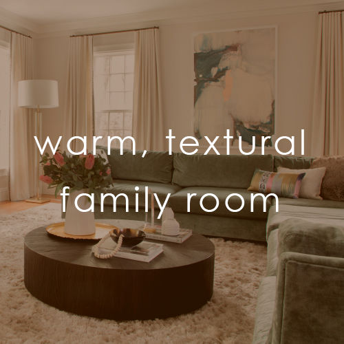 Warm, Textural Family Room